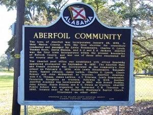 Aberfoil Community Historical Marker